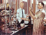 Dr. Banting in his laboratory.